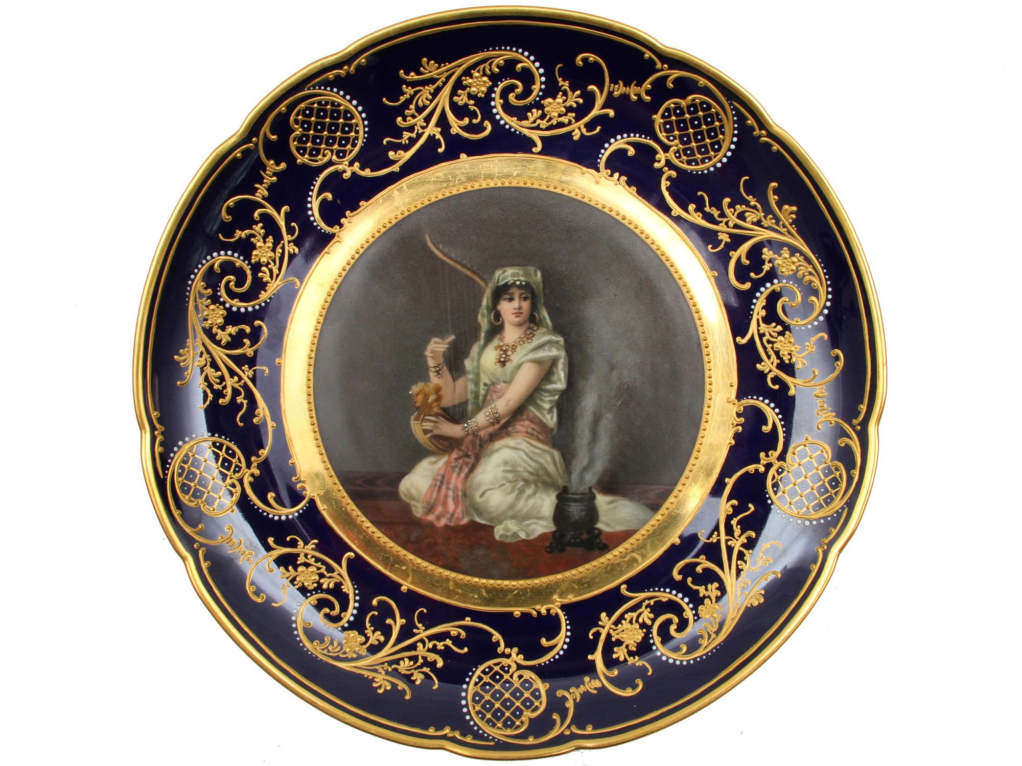 Helios Auctions : ROYAL VIENNA HAREM EASTERN GIRL PORTRAIT